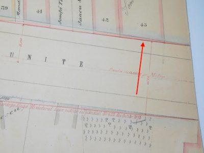 Planul de aliniere 1885